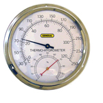 A600FC GENERAL TOOLS ANALOG THERMO-HYGRO METER WITH 5 ALUMINUM DIAL, F ONLY, LOT# ST62
